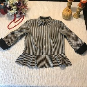 Lauren Ralph Lauren Tops - Lauren Ralph Lauren Shirt  Size 8 Black White